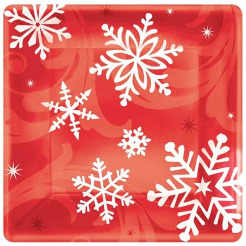 Parti Paketi Kar Kristali Küçük Tabak 8'Li