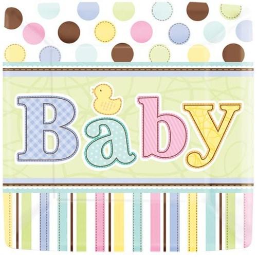 Parti Paketi Hoşgeldin Bebeğim Küçük Tabak 18'Li