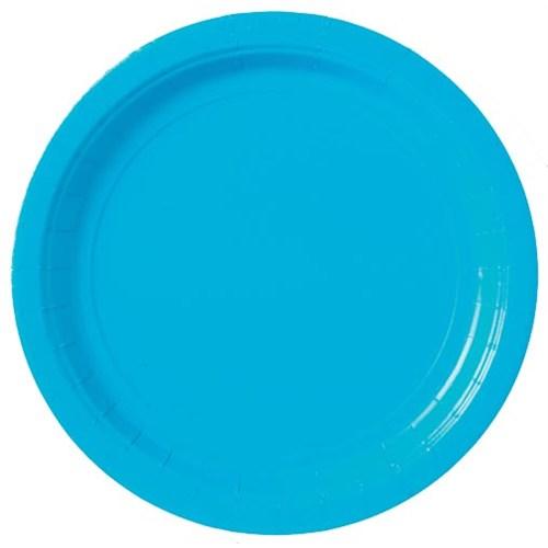 Parti Paketi Boncuk Mavi Büyük Tabak 8'Li