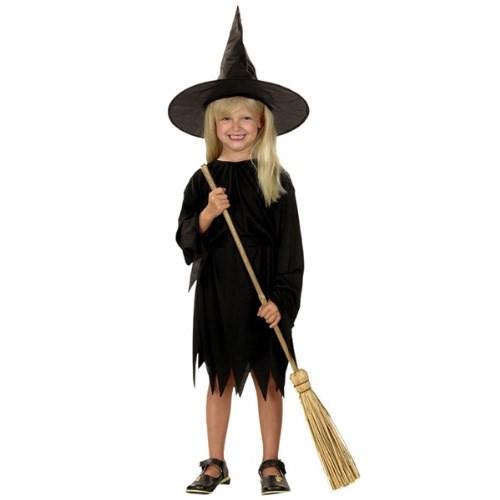 Parti Paketi Cadı Kostümü Siyah 4-6 Yaş