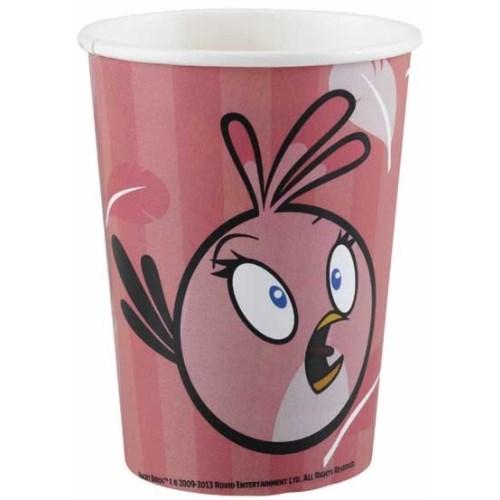 Parti Paketi Angry Birds Pink Partisi Bardak 8'Li
