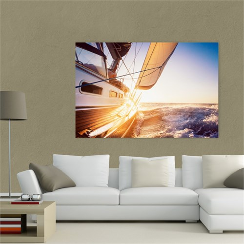 Atlantis Tablo Günbatımında Yelkenli 75X50 Cm