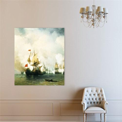 Atlantis Tablo Sakız Adası'nda Deniz Savaşı, 1848 50X60 Cm