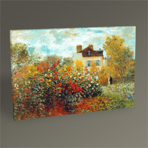 Tablo 360 Claude Monet Garden İn Argenteuil Tablo 45X30