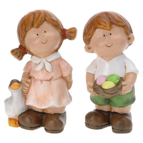 Gold Dekor Sevimli Çocuklar 2'Li Set