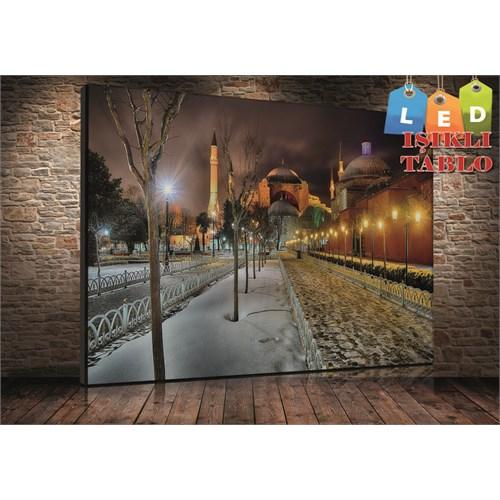 Tablo İstanbul Ayasofya İstanbul Led Işıklı Kanvas Tablo 45*65 Cm