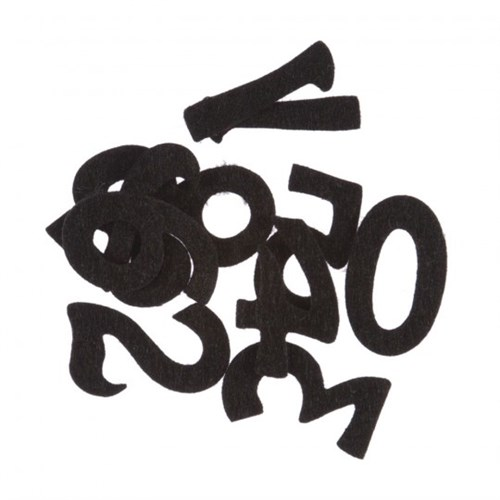 La Mia 10'Lu Siyah Sayı Keçe Motifler M01