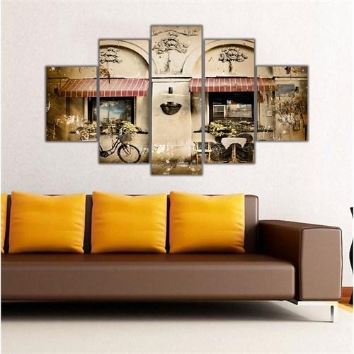 Ritmo Canvas Bisiklet Ve Cafe Canvas Tablo