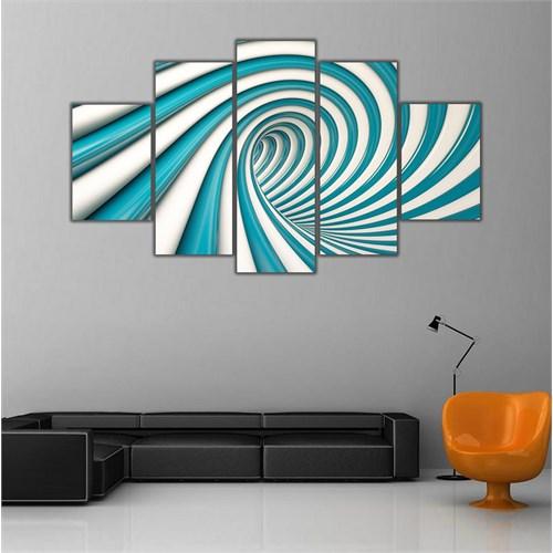 Ritmo Canvas Turkuaz Ve Spiral Canvas Tablo