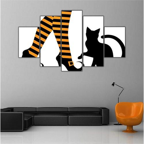 Ritmo Canvas Kadın Ve Kedi Canvas Tablo
