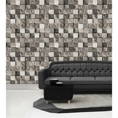 Bien Wallpaper 8810 Taş Desen Duvar Kağıdı