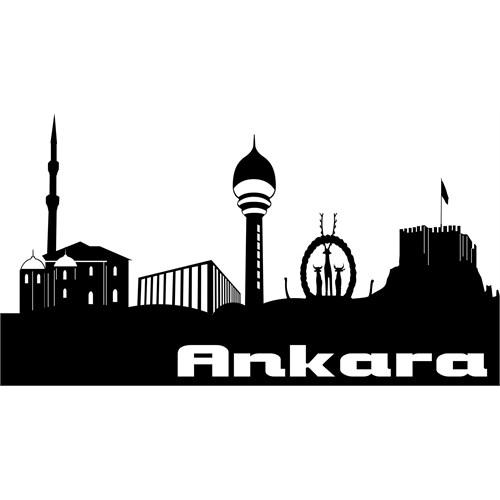 Sticker Masters Ankara Siluet Duvar Sticker