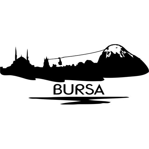Sticker Masters Bursa Siluet Duvar Sticker