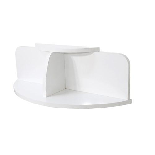 Prado Max Oval Duvar Rafı Beyaz