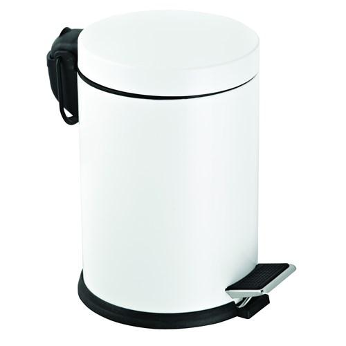Baneva Pedallı Çöp Kovası Beyaz 16 Litre