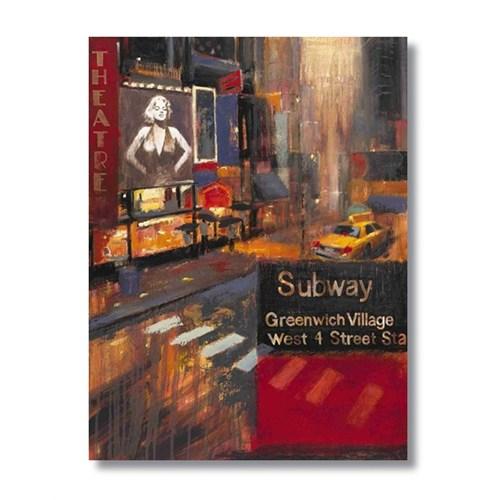 Ritmo-Newyork Ve Marilyn Kanvas Tablo