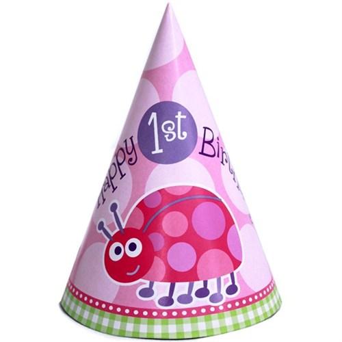 Pandoli First Birthday Uğur Böceği Külahşapka 8 Ad