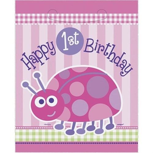Pandoli First Birthday Uğur Böceği Parti Çantası 8 Ad
