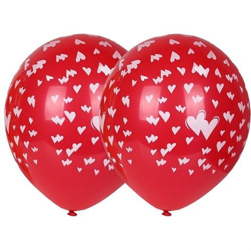 Pandoli 10 Adet Kalpler Baskılı Çepeçevre Latex Balon