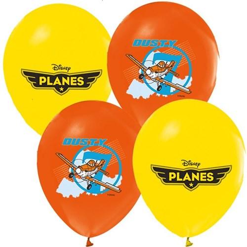 Pandoli 25 Li Planes Baskılı Latex Renkli Balon