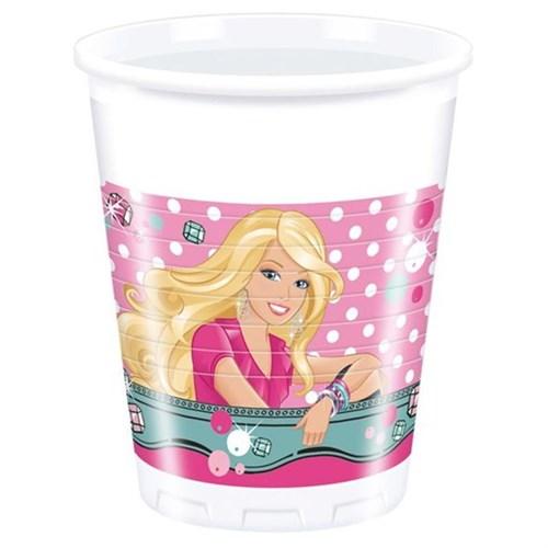 Pandoli Elegant Barbie Bardak 8 Li Plastik