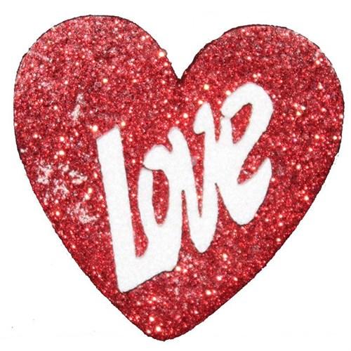 Pandoli 14 Cm Çapında Love Kırmızı Kalp Strafor Süs