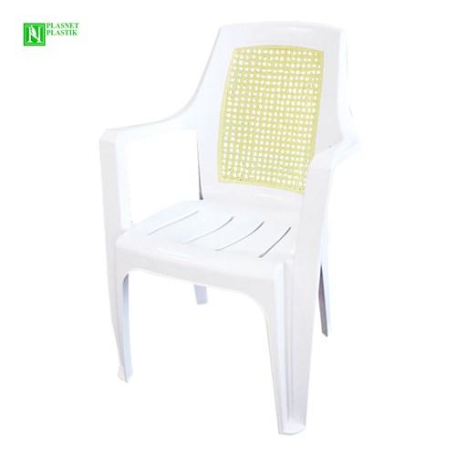 Bunjee Nirvana Çift Renkli Plastik Sandalye Beyaz