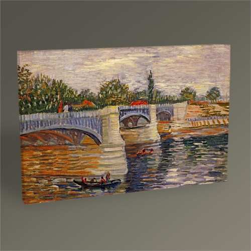 Tablo 360 Vincent Van Gogh The Seine With The Pont De La Grande Jatte 45X30