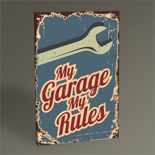 Tablo 360 My Garage My Rules Tablo 45X30