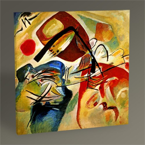 Tablo 360 Wassily Kandinsky Picture With A Black,Arch 30X30