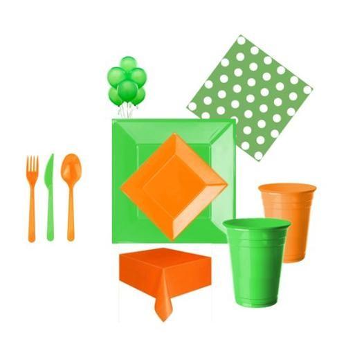 Partisepeti Turuncu Yeşil Parti Seti