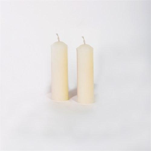 Beyaz 32-11 2'Li Kokusuz Bar Mum