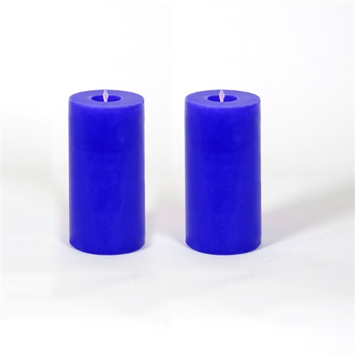 Mavi 5*10 Cm Okyanus Esintisi Kokulu 2'Li Silindir Mum