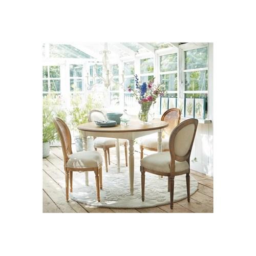 Woodenbend Vhagar Beyaz Yemek Masası