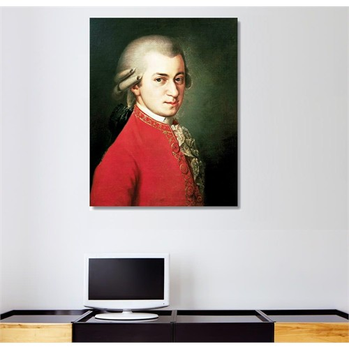 Tictac Amadeus Mozart Kanvas Tablo - 40X60 Cm