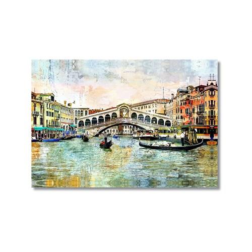 Tictac Venedik 5 Kanvas Tablo - 60X90 Cm