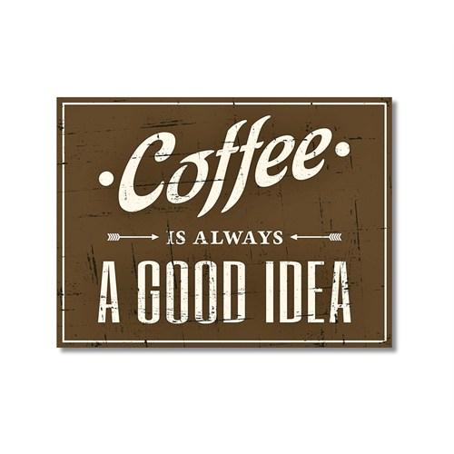 Tictac Coffee Tabela Kanvas Tablo - 60X90 Cm