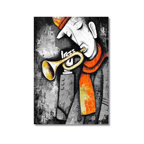 Tictac Dekoratif Müzik Serisi - Trompet Kanvas Tablo - 50X75 Cm