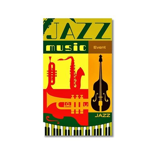 Tictac Jazz Music Kanvas Tablo - 40X60 Cm