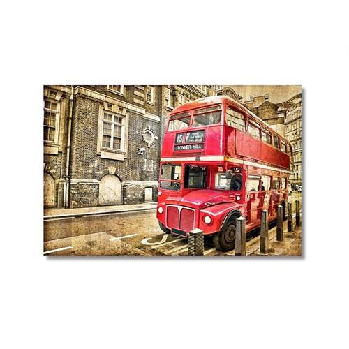Tictac Londra Otobüsü Kanvas Tablo - 50X75 Cm