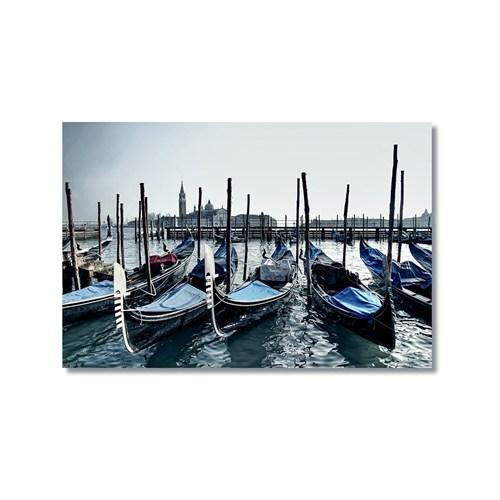 Tictac Venedik Gondolları 4 Kanvas Tablo - 60X90 Cm
