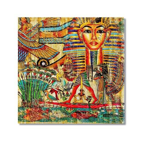 Tictac Mısır Sembolleri 2 Kanvas Tablo - 60X60 Cm