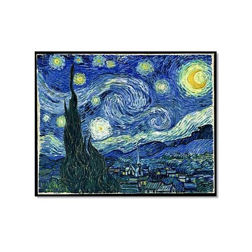 Tictac Van Gogh Yıldızlı Gece Kanvas Tablo - 70X70 Cm