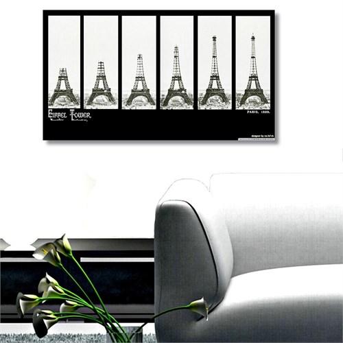 Tictac Eyfel İnşaatı Kanvas Tablo - 50X100 Cm