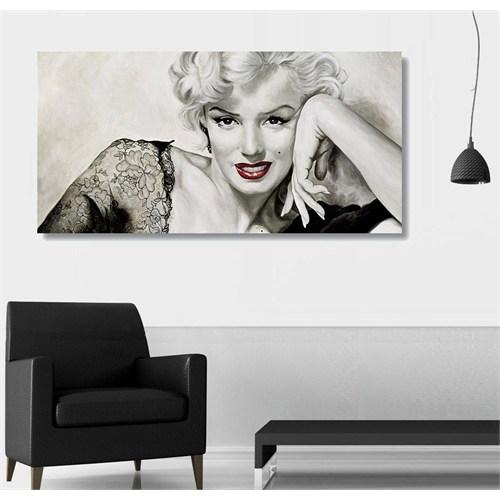 Tictac Marilyn Kanvas Tablo - 40X80 Cm - 40X80 Cm