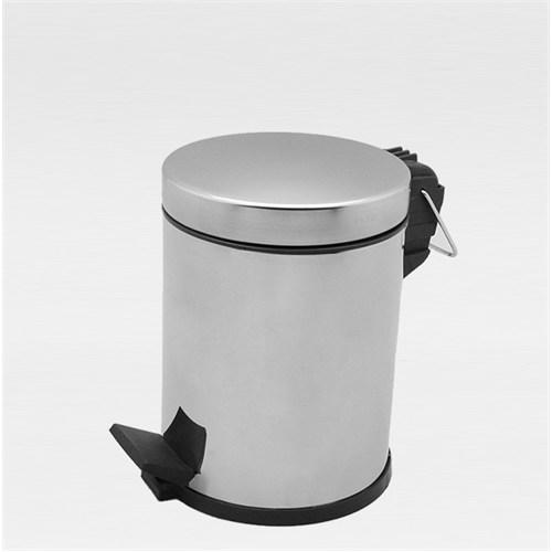 Çöp Kovası Pedallı Paslanmaz 5 Lt