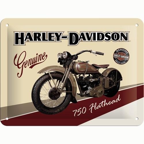 Nostalgic Art Harley Davidson Metal Kabart Malı Pin Up Duvar Panosu (15 X 20 Cm)