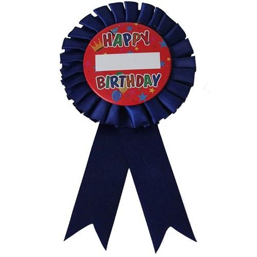 Pandoli Happy Birthday Yazılı İsme Özel Rozet Lacivert