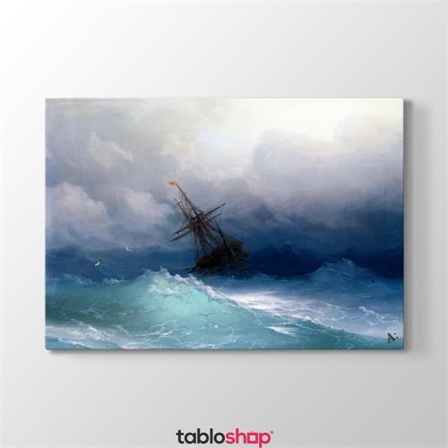 Tabloshop Ivan Ayvazovski - Fırtınalı Denizde Gemi Tablosu
