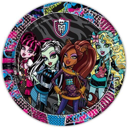 Parti Şöleni Monster High Tabak 10 Adet
